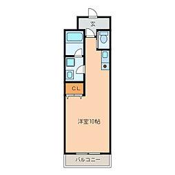 静岡県浜松市中区大工町の賃貸マンションの間取り