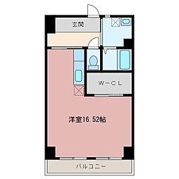 静岡県浜松市中区広沢2丁目の賃貸マンションの間取り