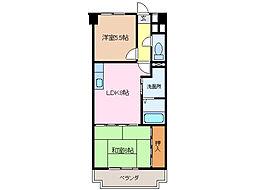 エステート鳴海[6階]の間取り