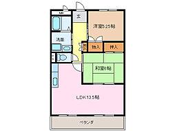 愛知県名古屋市緑区神の倉3丁目の賃貸マンションの間取り