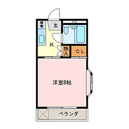 愛知県名古屋市天白区山根町の賃貸マンションの間取り