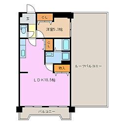 愛知県名古屋市緑区漆山の賃貸マンションの間取り