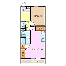 有松ヒルズ[2階]の間取り