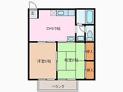 ヒルズ鳴海A[1階]の間取り