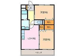 愛知県名古屋市緑区姥子山4丁目の賃貸マンションの間取り