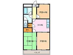 愛知県名古屋市緑区大形山の賃貸マンションの間取り