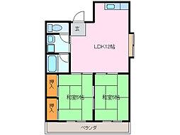 愛知県名古屋市緑区太子1丁目の賃貸マンションの間取り