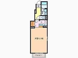 愛知県名古屋市緑区南大高1丁目の賃貸アパートの間取り