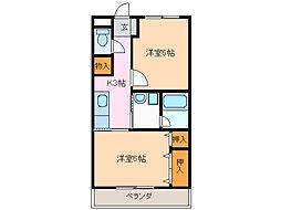 レジデンスODAKA[1階]の間取り