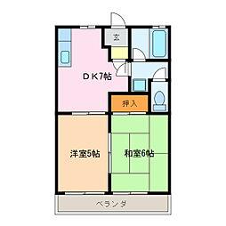 シティハイツワシヅ[2階]の間取り