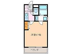 愛知県名古屋市緑区鳴海町字善明寺の賃貸アパートの間取り