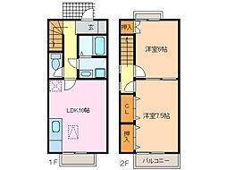 [テラスハウス] 愛知県名古屋市緑区横吹町 の賃貸【/】の間取り