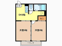 M&Y滝ノ水II[2階]の間取り