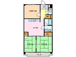 愛知県名古屋市緑区鳴子町4丁目の賃貸マンションの間取り