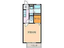 愛知県名古屋市緑区大高町字伊賀殿の賃貸アパートの間取り