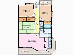 山田ビル鳴海[5階]の間取り