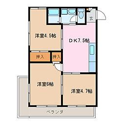 第5菊屋ビル[4階]の間取り