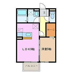 メゾンサニーヒル(鎌倉台)[2階]の間取り