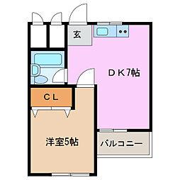 愛知県名古屋市緑区諸の木3丁目の賃貸マンションの間取り