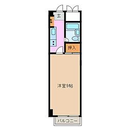 ヤングプラザ[3階]の間取り