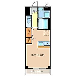 愛知県豊明市新田町吉池の賃貸マンションの間取り