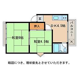 西中野モダンテラス[2階]の間取り
