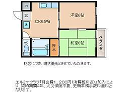 ミヤハイツ林田[3階]の間取り