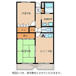 メゾンドセンチュリー21[3階]の間取り
