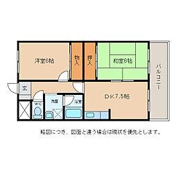 ハイツエクセルIII番館[4階]の間取り
