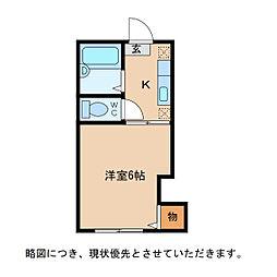 トゥジュール・H[2階]の間取り