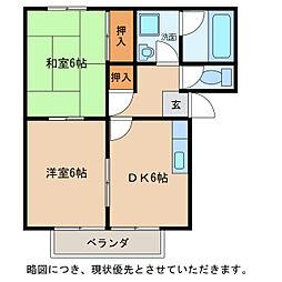 レジデンス宝積[1階]の間取り