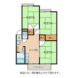 ハイツ竹鼻[2階]の間取り