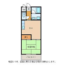 メゾンエイコー能登川II[6階]の間取り