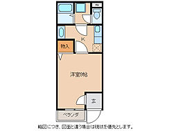 ドリームハイツIII号館[1階]の間取り