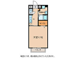 シャルマン愛知川[2階]の間取り