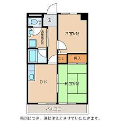 ベネツィアマンション[2階]の間取り