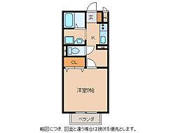 ボナール大澤[2階]の間取り