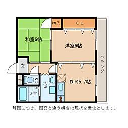 メゾンKS[3階]の間取り