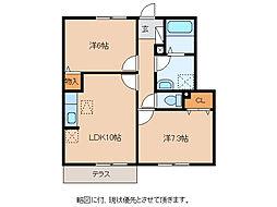 フレアコートMori[1階]の間取り