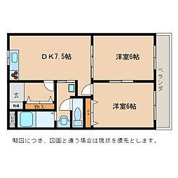 グリーンコートI・II[2階]の間取り
