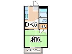 JR内房線 長浦駅 徒歩9分の賃貸アパート 1階1DKの間取り