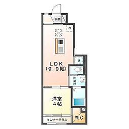 JR内房線 木更津駅 バス22分 金田中島北停下車 徒歩3分の賃貸アパート 1階1LDKの間取り