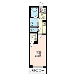 JR内房線 姉ヶ崎駅 徒歩8分の賃貸マンション 1階1Kの間取り