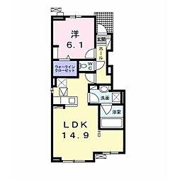JR内房線 姉ヶ崎駅 徒歩22分の賃貸アパート 1階1LDKの間取り