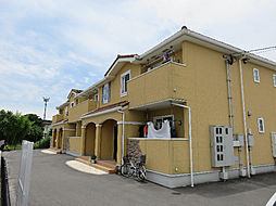鹿児島県姶良市東餅田の賃貸アパートの外観