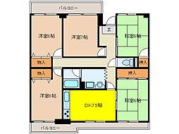 リバーサイド鎌倉[4階]の間取り