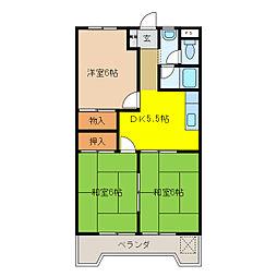入山ビル[2階]の間取り