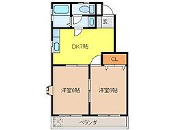 サンツイン(柳津)[3階]の間取り