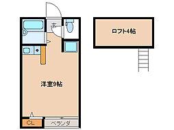 SKYROCKETI[2階]の間取り