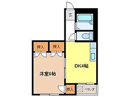 メゾン安田[2階]の間取り